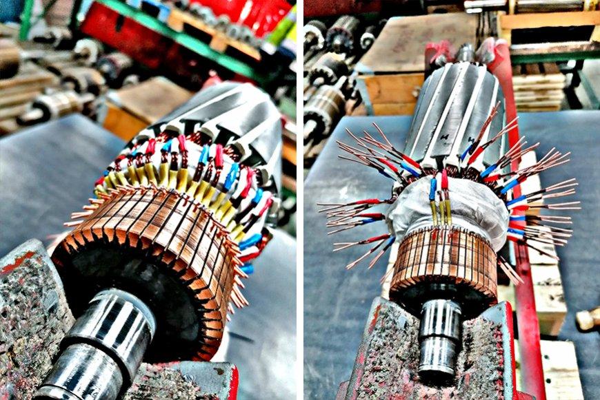 Travail artistique : un rotor bobiné chez BME